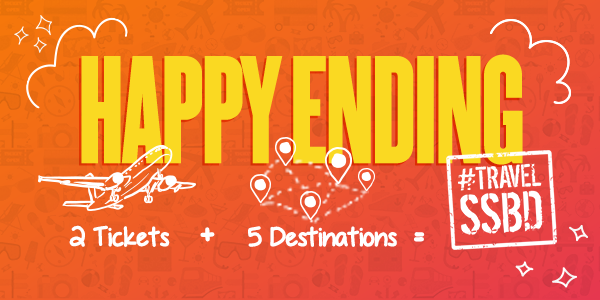 Happy Ending Contest: Win Airfare for 2 Across Asia
